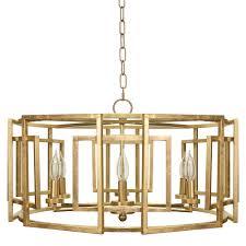 chandeliers gold drum pendant lighting worlds away square motif drum chandelier gold leaf gold drum