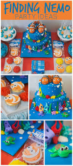An amazing Finding Nemo themed boy first birthday party with a colorful  cake and fun treats