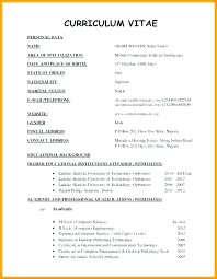 Latest Resume Format Resume Basic Format Latest Doc In Latest Resume