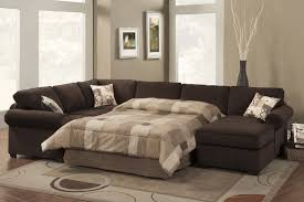 Incredible Leather Sectional Sleeper Sofa With Chaise Fancy Living