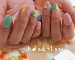 パステルカラー春ネイル Nail Salon Hana