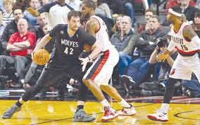 Power forward and center shoots: Nba Bench Buoys Blazers Against Timberwolves Duluth News Tribune