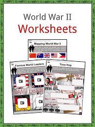 World War Ii Ww2 Facts Worksheets Deaths History