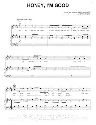 sheet music direct us honey im good sheet music direct