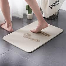 water absorption diatom mud rug bathroom mat memory foam bath mat set kitchen door floor mat