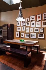 rustic picture frames collages. Delighful Rustic Family Frame Collage Dining Room Contemporary With Dark Brown Cabinets  Pendant Light For Rustic Picture Frames Collages