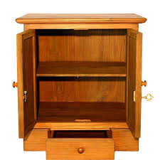 locking wood storage cabinet