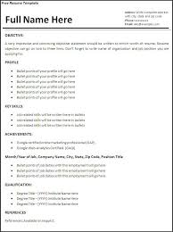 Resume Template For Job Application Example Of Resume For Job