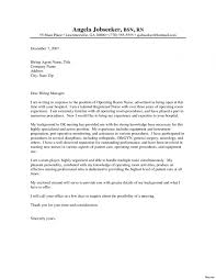 Nursing Cover Letter Samples Resume New Graduate Nurse Sample For