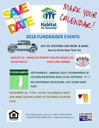 Upcoming Events Flyer Save The Date Upcoming Events Fostoria Habitat For