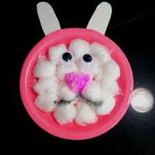 easy easter crafts for two year olds. bunny rabbit handprint craft for kids (easter idea | rabbit, and easter easy crafts two year olds r