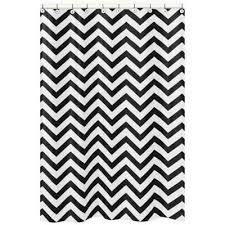 Modren Black And White Curtains Sweet Jojo Designs Chevron Shower Inside Inspiration