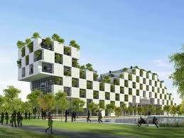 architectural buildings designs. \u003cstrong\u003eFPT Technology Building By Vo Trong Nghia Architects.\u003c\/strong\u003e Architectural Buildings Designs O