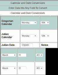 49 Logical Julian Calendar Conversion Chart