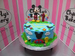Mickey Mouse Themed 1st Birthday Cake With 3d Figurine On Flickr
