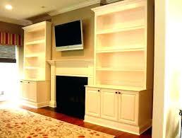 fireplace diy bookshelves around cabinets beside and shelf