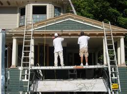exterior house painters. this is the most labor intensive part of exterior painting, but important. all loose paint must be found and then removed; forms house painters