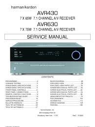 47167240 harman kardon service manual for avr 430 and avr 630 47167240 harman kardon service manual for avr 430 and avr 630 receivers electrostatics electricity