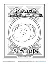 Small Picture Fruit of the Spirit for Kids Peace Coloring Page