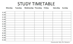 Gray Simple Class Schedule Online Timetable Template Study Schedules