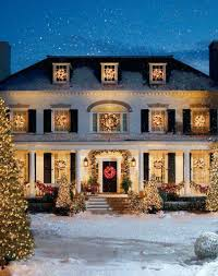 ordinary lighted wreaths for outdoor windows classic two story with lighted at night with wreaths on windows exterior decorations a5254191