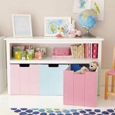 wall units white easy reach toy storage unit with blue and pink reversible intended for