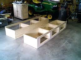 diy twin platform bed. How To Build A Twin Platform Bed With Storage Underneath . Diy