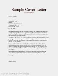 Cover Letter Sample Volunteer Cover Letter Cover Letter Sample