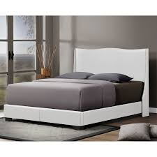 Amazon.com: Baxton Studio Duncombe Modern Bed with Upholstered Headboard,  Queen, White: Kitchen & Dining