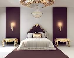 luxury style bedroom decoration with round gold vaulted ceiling also romantic wall lamp