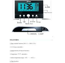 ceiling alarm clock with light on projection projecting to wall display weekday temperature