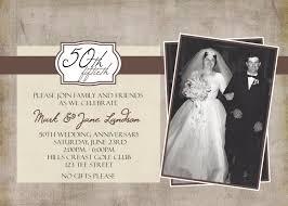 Printable 50th Wedding Anniversary Invitations Elegant 50th