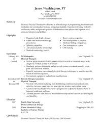 Physical Therapy Aide Resume For Summary With Highlights And Experience  With Physical Therapy Aide No Experience