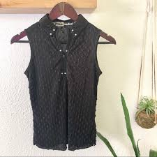 Jamie Sadock Size Chart Jamie Sadock Black Studded Sleeveless Golf Top