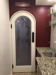 rounded door glass insert etched glass tuscan sans soucie