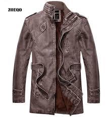 zoeqo chaqueta cuero hombre winter leather jacket men motorcycle leather jacket distressed men s luxury leather jacket