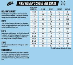 Nike Shoes Size Chart Womens