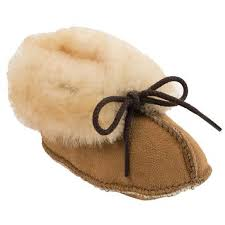 Minnetonka Genuine Sheepskin Bootie Dress Shoes Baby Toddler