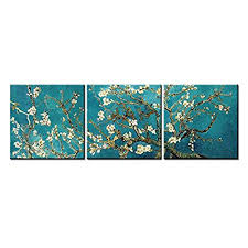 canvas print wall art painting for home decor vincent van gogh s painting branches of an almond tree in blossom 1890 the van gogh classic arts reproduction  on cheap canvas wall art amazon with cheap canvas wall art amazon