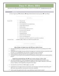 How To Design A Resume Commercial Interior Design Resume V Drive