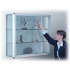 wall mounted glass display cabinet with