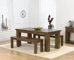 palermo dark oak 180cm dining table 2 benches intended for oak benches for dining tables
