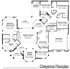 Black And White Floor Plan Of Single Family Home By Kemp Design Single Family House Plans