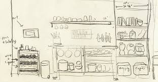 simple kitchen drawing. kitchen drawing simple