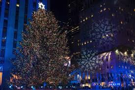 the rockefeller center tree is lit during the 85th annual rockefeller center tree lighting