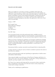 executive cover letter samples letter format  letter