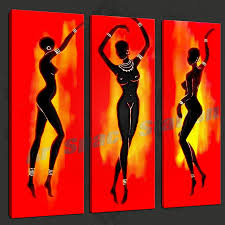 large wall art abstract modern black african r 3 panels hand throughout most popular abstract african