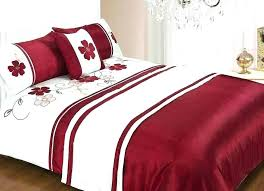 red duvet cover super king size bedding sets bed comforters and white twin s