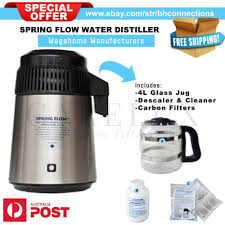 medical stainless steel water distiller with glass jug 4l spring flow medical