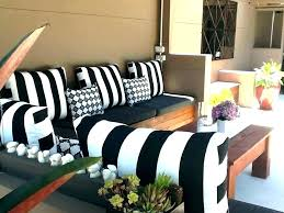 black and white striped outdoor pillows cushions glam patio